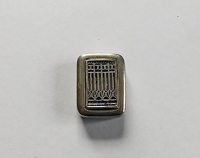 Sterling Silver Pill Snuff Box Museum Modern Art Arts Crafts Mission