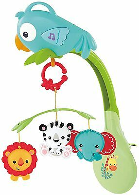 NEW Fisher-Price Rainforest 3-in-1 Musical Mobile