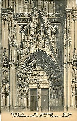 Cp Cologne Cathedrale Portail Detail