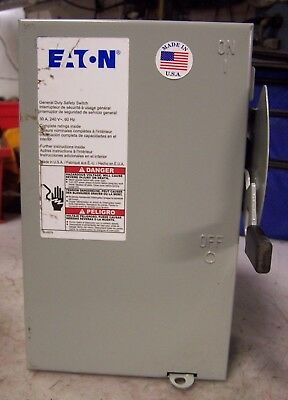 NEW 30 Amp 3 Phase Non-Fused Disconnect Switch Eaton Cutler Hammer DG321UGB