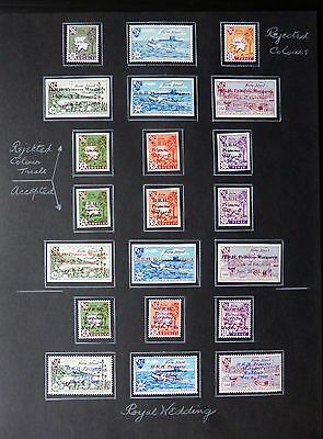 GB HERM ISLAND Trials, Colours, Variations & Errors on 2 Pages NB560