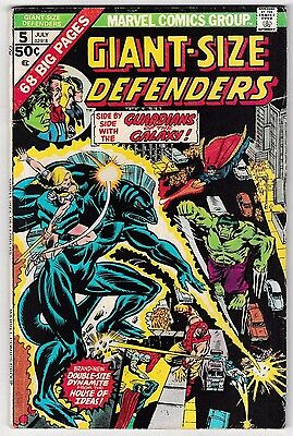 GIANT-SIZE DEFENDERS #5 (VG/FN) 3rd GUARDIANS OF THE GALAXY! Big 68 Pages! 1975