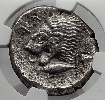 KYZIKOS in MYSIA Kore Persephone Lion Tetradrachm Ancient Greek Coin NGC i61063