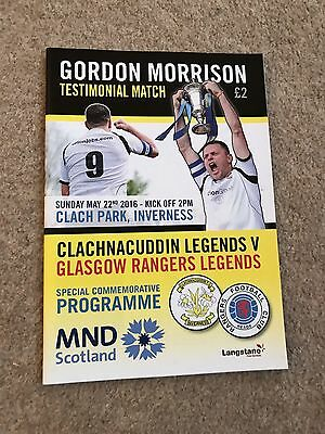 Gordon Morrison Rangers v INVERNESS CLACH TESTIMONIAL May 2016 Mint