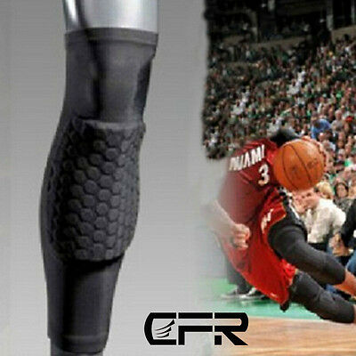 Basketball Antislip Compression Sleeve Leg Knee Support Protector Honeycomb Pads