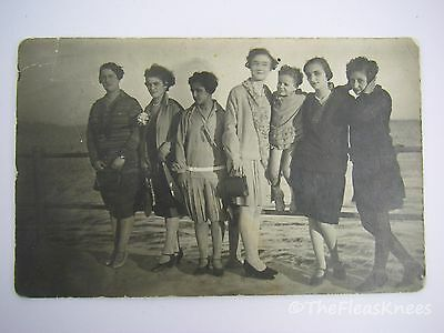 RPPC Real Photo Postcard: 1920's WOMEN ON A SHIP CRUISE