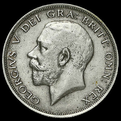 1912 George V Silver Half Crown, Scarce, VF