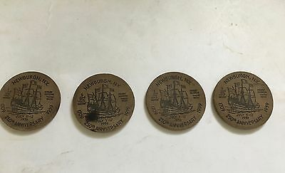 4 Newburgh New York 1959 Sesquicentennial 250th Anniversary WOODEN NICKELS