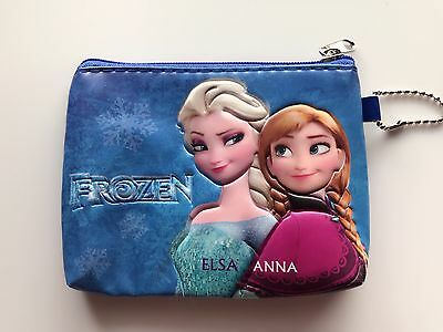 Girl Children Kids School Frozen Elsa Anna Zip Coin Card small Wallet case bag