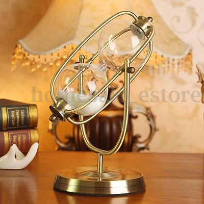 30Min Retro Rolating Hourglass Sandglass Sand Timer Clock Home Office Decor Gift