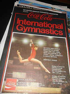 Coke Coca Cola English Gymnastics Poster