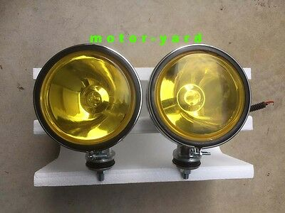 Universal Suv Ute Caravan Spot / Driving / Fog Lights Fog Lamps - Yellow