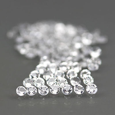 4 MM/10 Pcs Round Brilliant Cut White Cubic Zircon Loose Gemstone Lot AAA
