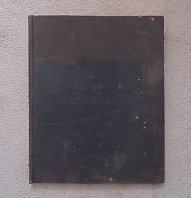 The Growth of Industrial Art Antique Book Catalog c. 1892  Patents Farming