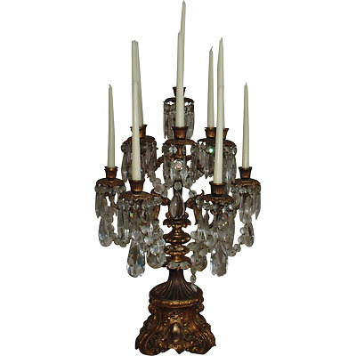 Antique French Bronze Candelabra Candelabrum Table Chandelier Louis XV Rococo