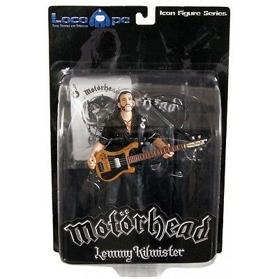 Mot?rhead Action Figure Lemmy Kilmister Black Pick Guard Guitar 16 cm