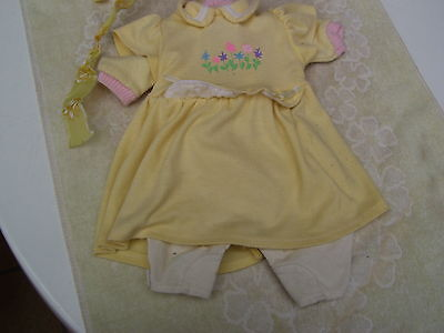Alte Puppenkleidung YellowSoft Lissi Dress Outfit vintage Doll clothes 50cm Girl