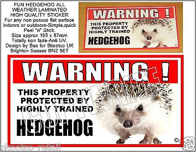 HEDGEHOG FUN HIGH QUALITY STICKER-For indoors or outdoors