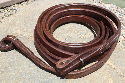 "Quality Oiled Leather Western Split Reins 3/4"" x 8'. Horse Tack"