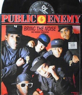 "PUBLIC ENEMY ~ Bring The Noise ~ 12"" Single PS"