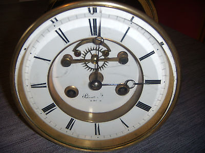 Ancien Mouvement Horloge Pendule  Broco.. Voir  Description