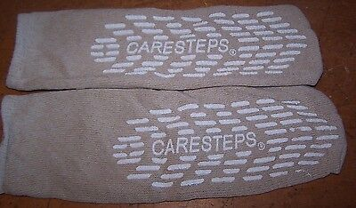 6 PAIRS Care Steps HOSPITAL NON-SKID NO SLIP SOCKS BIEGE LARGE 80105 adult