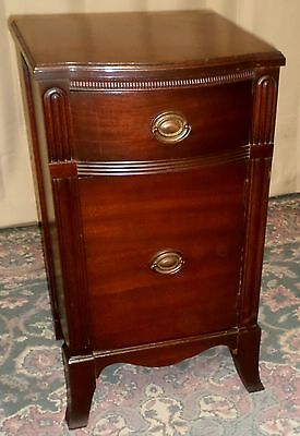 MAHOGANY NIGHTSTAND Single Drawer Cabinet Bedside Chest Nightstand VINTAGE 1940s