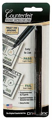 Dri-Mark Smart Money Counterfeit Bill Detector Pen for Use with U.S. Currency,