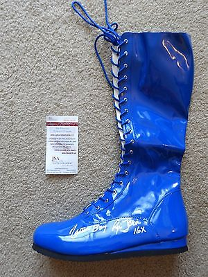 Ric Flair Nature Boy Signed Auto Blue Wrestling Boot Jsa 16X Autographed