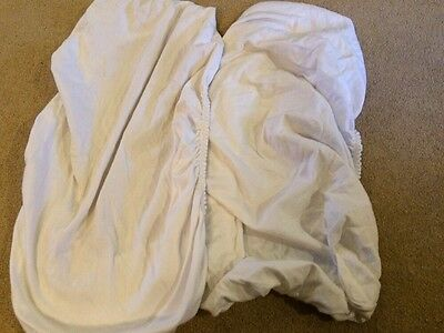 2 X White Fitted Crib Sheets
