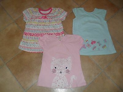 Girls T Shirts size 12-18 months from George QTY 3