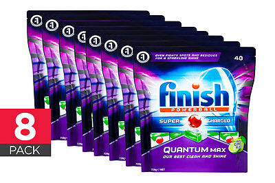 320 Finish Quantum Max Powerball Dishwashing Tablets - Apple Lime Blast (8 x 40