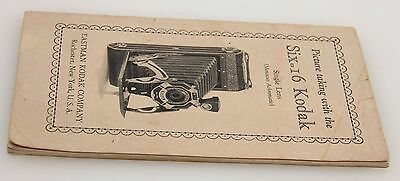 Picture taking with the Six-16 Kodak, instruction manual, vintage #357288
