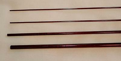 IM6, 3 PC, 3 WT, 6 FT 6 INCH FLY ROD BLANK, Reddish Brown, 2 Tips, by Roger