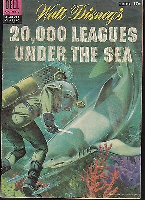 20,000 LEAGUES UNDER THE SEA  #614 1954 -DISNEY MOVIE CLASSIC PAINTED-c...VG+