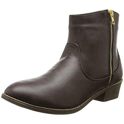 Diba Girl 3834 Womens Pine City Brown Ankle Boots Shoes 8 Medium (B,M) BHFO