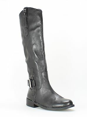 Vince Camuto NEW Black Shoes 5.5M Knee-High Zip Leather Boots $197- #401 DEAL