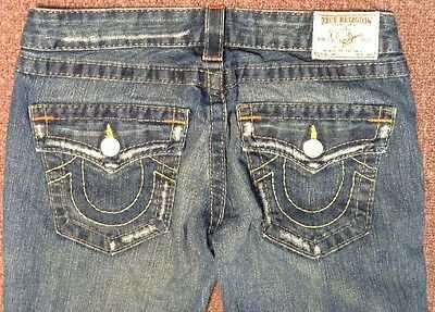 "Joey True Religion Jeans Distressed Waist 28"" By 31"""