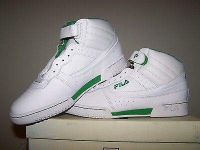 MEN'S NEW FILA F 13 White Shoes with Green Trim $44.99