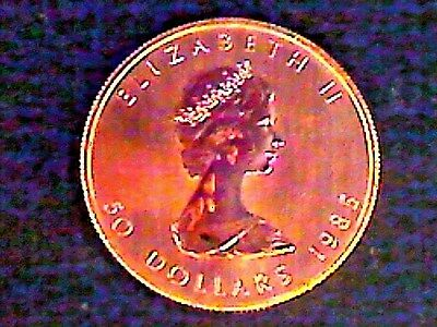 1985 Canadian Maple Leaf 1 Ounce Gold Coin