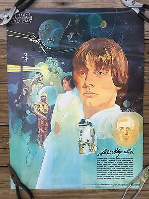 "Star Wars Coca Cola/Burger Chef Original 1977 18"" x 24"" Poster FN - Luke"