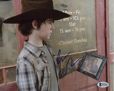 Chandler Riggs Autographed Signed The Walking Dead Carl Bas Coa 8X10 Photo