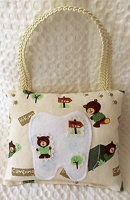 """*ONLY 1* """"Camping & Hiking"""" - Tooth Fairy Pillow - NEW"""