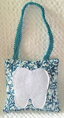 """** """"By the Sea"""" - Blue Coral Tooth Fairy Pillow - NEW"""