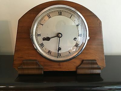 CLOCK Antique Wooden Westminster Chime - Art Deco - Excellent working condition