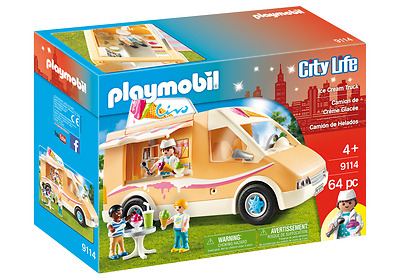 PLAYMOBIL 9114 CITY LIFE ice cream truck creme glacée (version américaine)