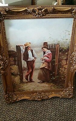 R.Vinton oil painting on canvas,fabulous frame 31x24inch