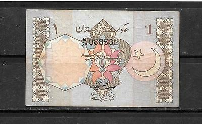 Pakistan #25 1981 Vg Circ Old Rupee  Banknote Paper Money Currency Bill Note