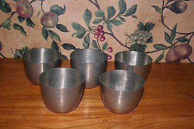 Vintage Jefferson Cups-Pewter-Lot Of 5 Made In Sheffield England