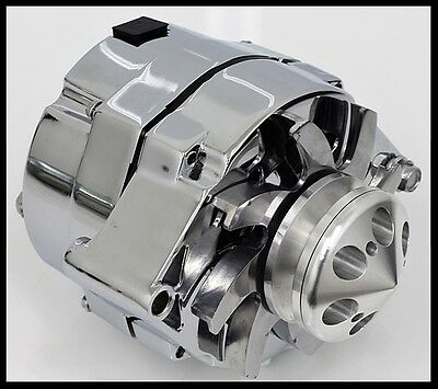Gm Chrome 120 Amp 10Si 1 One Or 3 Three Wire Chevy Alternator S-3902-Master Kit